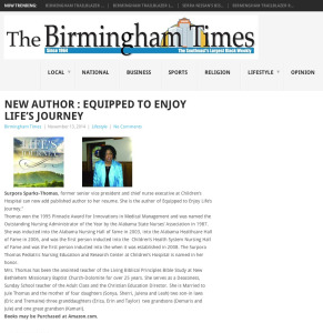New Author : Equipped to Enjoy Life's Journey | The Birmingham Times